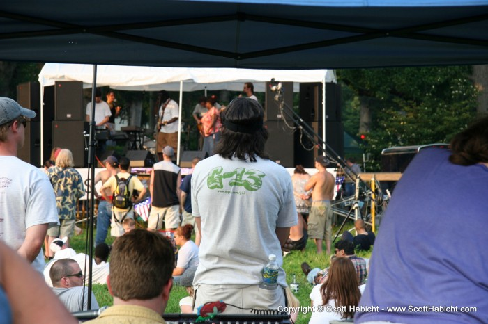 And we were there to see G-13 play. I found John hanging out by the sound board....