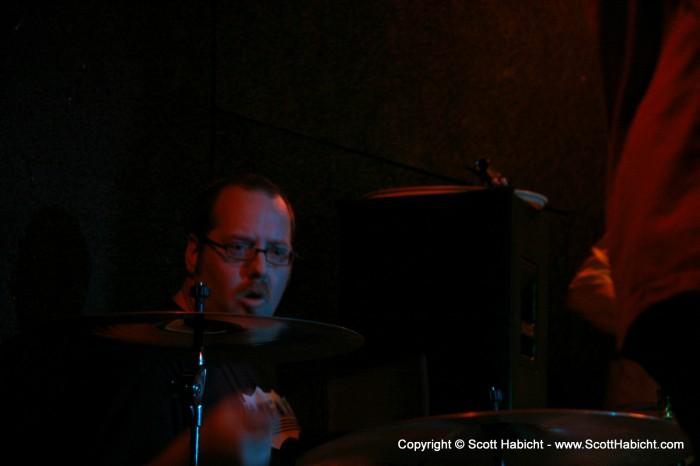 Sonny Martin, drum kit.