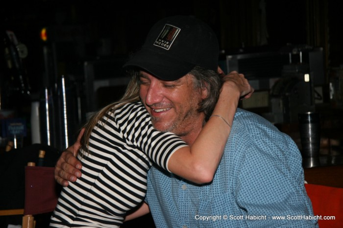 Kelli gives another hug....