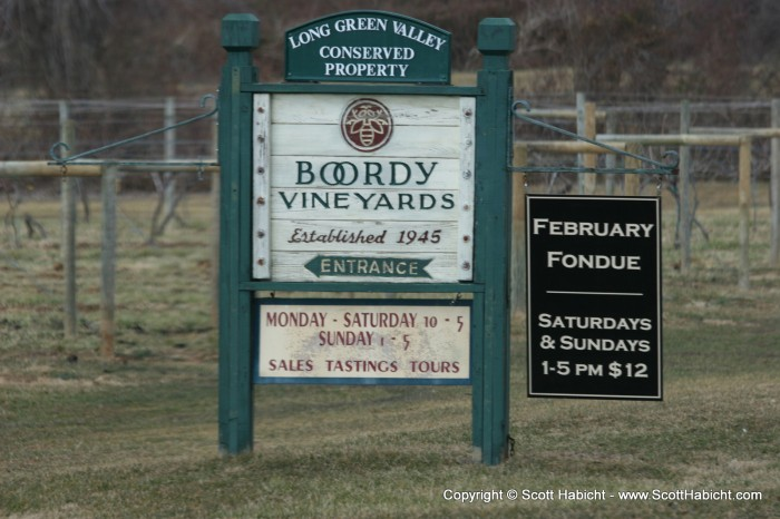 Kelli and I went to Boordy Vineyards for another day with...
