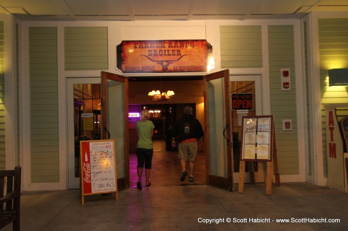 We hooked up with a few locals to go see Leeloo's Assassins at the Parker Ranch Broiler. Check out TalonPhotography.com for those pictures.