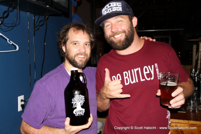 And I met with the owner Bryan Brushmiller and grabbed a growler of beer.