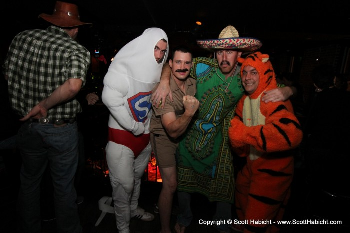 There were plenty of costumes on hand.